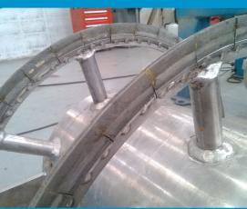 堆焊式螺旋耐磨片 Clamping Helical wear parts