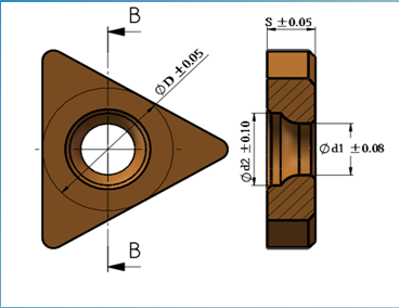 螺纹刀产品介绍-未带齿公制螺纹刀片各类型号